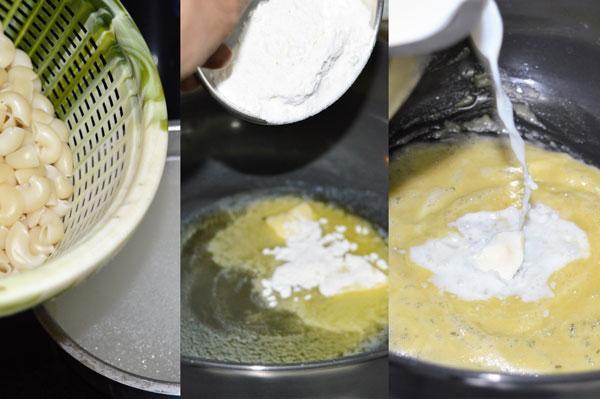 drain-butter-flour-milk